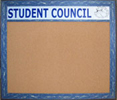 Custom Header Wallboards Tack Boards for home office or school