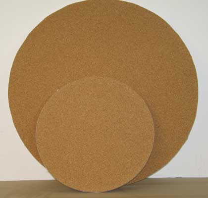 round cork material sold by the square foot