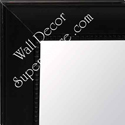 MR146-1  Satin Black Scoop with Square Bead - Large Custom Wall Mirror Custom Floor Mirror
