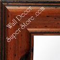 MR157-3 Pitted Pine  Distressed  Pecan Finish - Extra Large Custom Wall Mirror Custom Floor Mirror