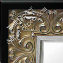 MR161-1 Ornate Silver With Black Trim - Extra Extra Large Custom Wall Mirror Custom Floor Mirror