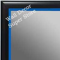 MR1400-1 Black With Blue Lip - Small Custom Wall Mirror