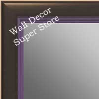 MR1401-6 Black With Purple Lip - Medium Custom Wall Mirror Custom Floor Mirror