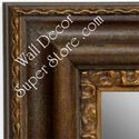 MR1423-2 Distressed Brown With Gold - Extra Extra Large Custom Wall Mirror Custom Floor Mirror