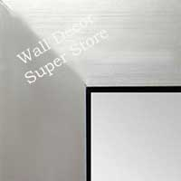 MR1431-2  Brushed Silver With Black - Value Price - Extra Large Custom Wall Mirror  Custom Floor Mirror