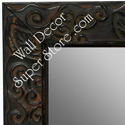 MR1471-1 Antique Black With Leaf And Vine Design - Large Custom Wall Mirror Custom Floor Mirror