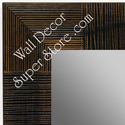 MR1487-1  Distressed Brown Bamboo - Medium Custom Wall Mirror Custom Floor Mirror