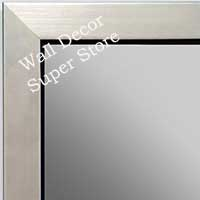 MR1495-2   BRUSHED SILVER WITH BLACK CUSTOM MIRROR  MR1MD