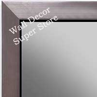MR1495-4 Brushed Pewter With Black - Small Custom Wall Mirror
