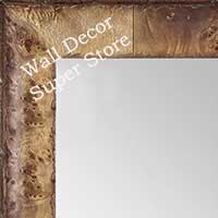 MR1530-3 Distressed Burlwood Light Pecan Medium Custom Wall Mirror Custom Floor Mirror