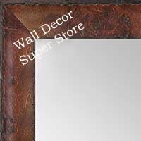 MR1530-4 Distressed Burlwood Cherry Medium Custom Wall Mirror Custom Floor Mirror