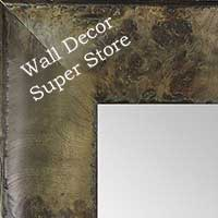 MR1531-5 Distressed Burlwood Brown Taupe Large Custom Wall Mirror Custom Floor Mirror