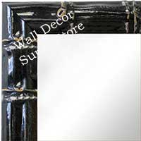 MR1611-1   Black Enamel Bamboo Custom Mirror