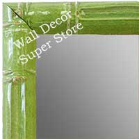MR1611-3   Green Enamel Bamboo Custom Mirror