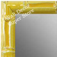 MR1611-4   Yellow Enamel Bamboo Custom Mirror