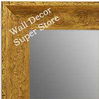 MR1614-1  Distressed Gold Custom Wall Mirror