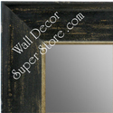 MR1615-2  Distressed Black Custom Wall Mirror