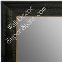 MR1616-1  Distressed Black | Custom Wall Mirror