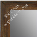 MR1616-3  Distressed Walnut | Custom Wall Mirror