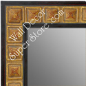 MR1621-1   Black with Gold Design | Custom Wall Mirror