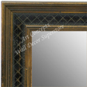 MR1622-1  Gold with Black / Design | Custom Wall Mirror