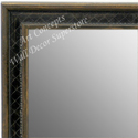 MR1622-2  Gold with Black / Design | Custom Wall Mirror