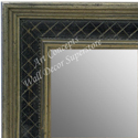 MR1623-1  Silver with Black / Design | Custom Wall Mirror