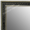 MR1623-2  Silver with Black / Design | Custom Wall Mirror