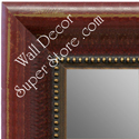 Dark Wood Finish Decorative Custom Mirrors