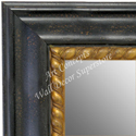 MR1635-1  Distressed Black | Custom Wall Mirror