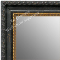 MR1637-1  Distressed Black Scoop Moulding | Custom Wall Mirror