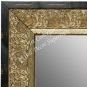MR1648-1  Distressed Black & Silver | Custom Wall Mirror