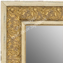MR1648-3  Distressed White & Gold | Custom Wall Mirror
