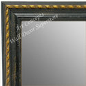 MR1653-1  Distressed Black with Gold | Custom Wall Mirror