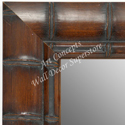 MR1657-2   Brown Bamboo | Custom Wall Mirror