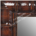 MR1658-1  Glossy Walnut Bamboo | Custom Wall Mirror