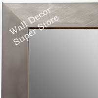 MR1689-2 | Silver / Cube Moulding | Custom Wall Mirror