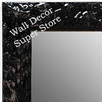 MR1692-1 | Glossy Black / Design | Custom Wall Mirror | Decorative Framed Mirrors | Wall D�cor