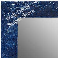 MR1692-8 | Glossy Blue / Design | Custom Wall Mirror | Decorative Framed Mirrors | Wall D�cor