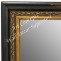 MR1696-1 | Distressed Black / Gold | Custom Wall Mirror | Decorative Framed Mirrors | Wall D�cor