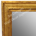 MR1706-3 | Distressed Gold Scoop Moulding | Custom Wall Mirror | Decorative Framed Mirrors | Wall D�cor