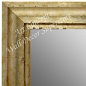 MR1707-4 | Distressed Silver Scoop Moulding | Custom Wall Mirror | Decorative Framed Mirrors | Wall D�cor