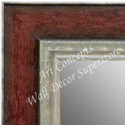 MR1719-1 | Distressed Red / Silver | Custom Wall Mirror | Decorative Framed Mirrors | Wall D�cor