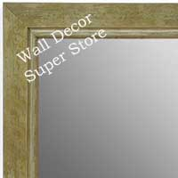 MR1720-3 | Distressed Green / Silver | Custom Wall Mirror | Decorative Framed Mirrors | Wall D�cor