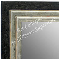 MR1721-2 | Distressed Black / Silver | Custom Wall Mirror | Decorative Framed Mirrors | Wall D�cor