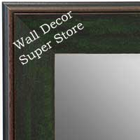 MR1734-4 | Distressed Evergreen | Custom Wall Mirror | Decorative Framed Mirrors | Wall D�cor