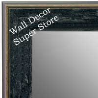 MR1734-6 | Distressed Black Granite | Custom Wall Mirror | Decorative Framed Mirrors | Wall D�cor