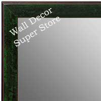 MR1735-2 | Distressed Evergreen | Custom Wall Mirror | Decorative Framed Mirrors | Wall D�cor
