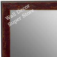 MR1735-3 | Distressed Brick Red | Custom Wall Mirror | Decorative Framed Mirrors | Wall D�cor