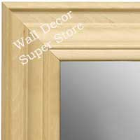 MR1749-1 | Unfinished Wood Frame | Unfinished Natural Wood Moulding - Paint or Stain | Custom Wall Mirror
